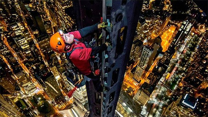 This photographer climbed the spire of One World Trade Center to shoot photographs and 360 video