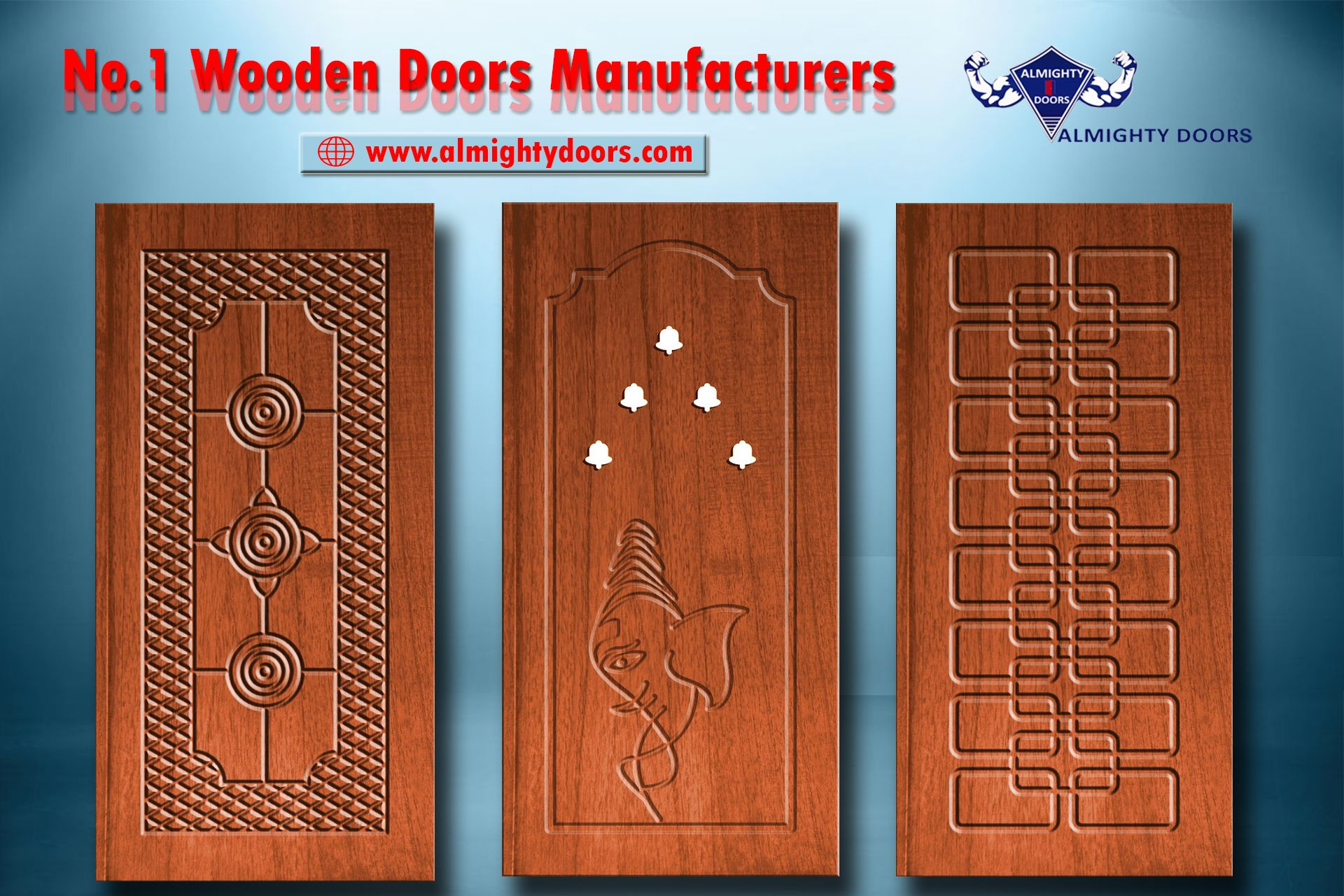 Solid Wooden Doors Manufacturers and Exporters! 100% Quality Teak ...