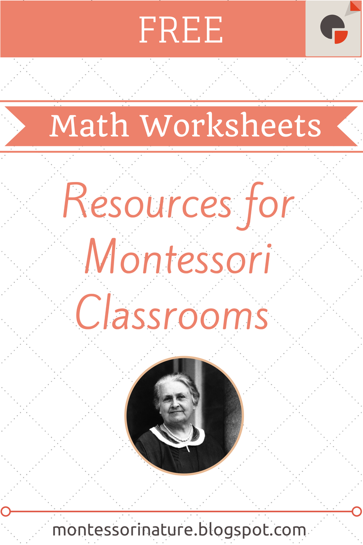 I Would Like To Share With You This Collection Of Great Free Online Montessori Math Resources Amazing Montes Montessori Math Montessori Lessons Math Worksheets [ 1102 x 735 Pixel ]