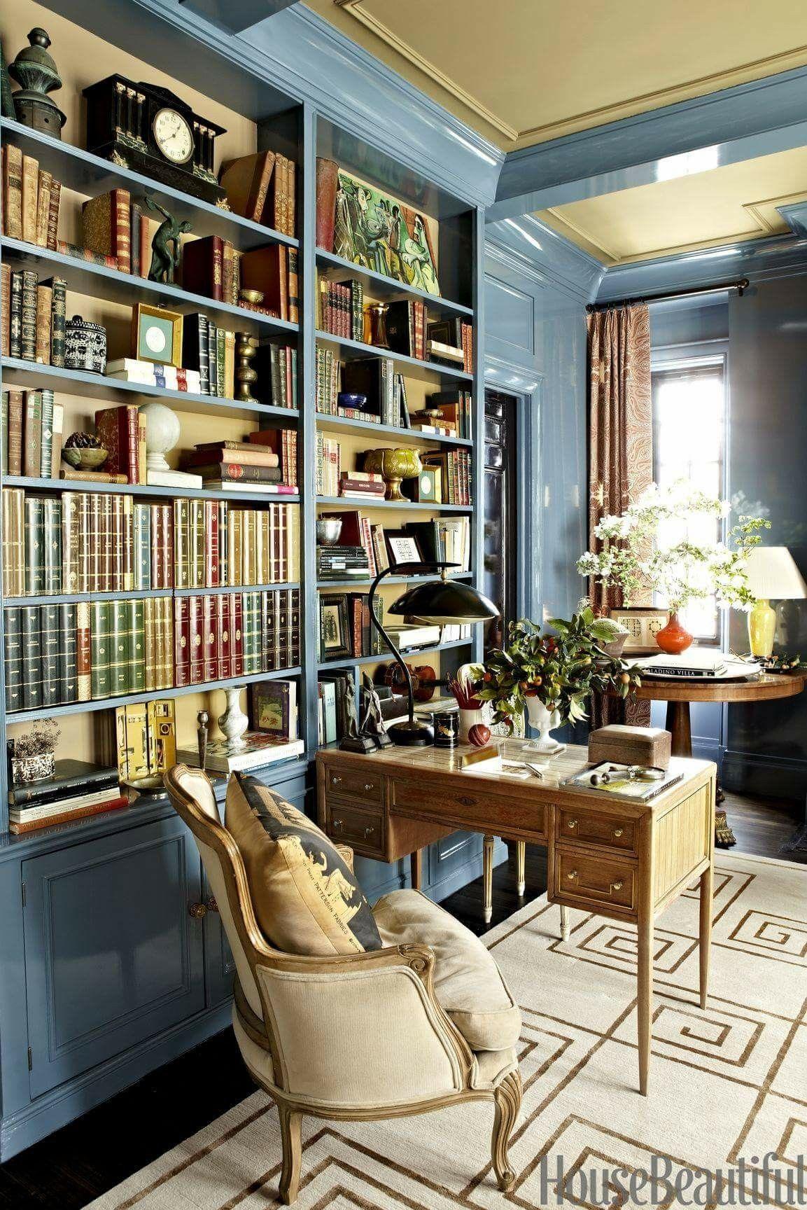 home office bookshelves. The Chinoiserie Office (Chinoiserie Chic) Home Bookshelves