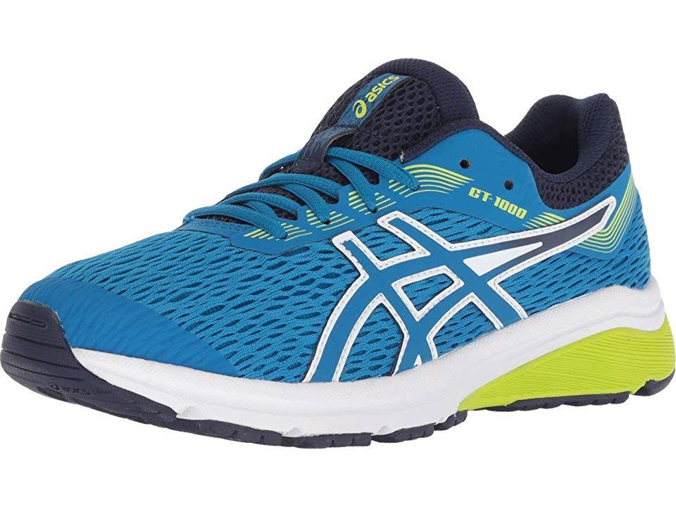 f45d06f0ad ASICS Kids GT-1000 7 (Big Kid) Boys Shoes Race Blue/Neon Lime ...