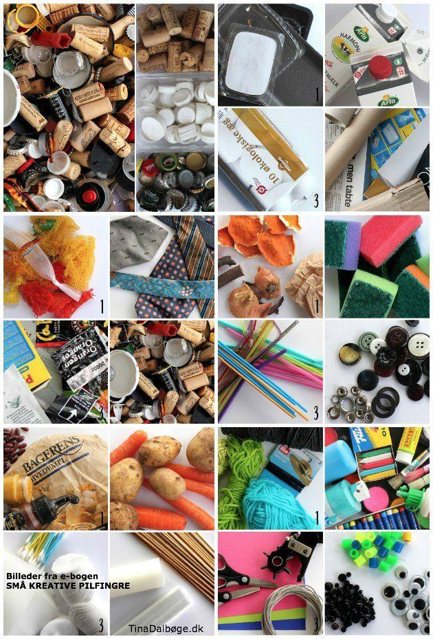 kreative ideer for de mindste af genbrugsmaterialer og billige ...