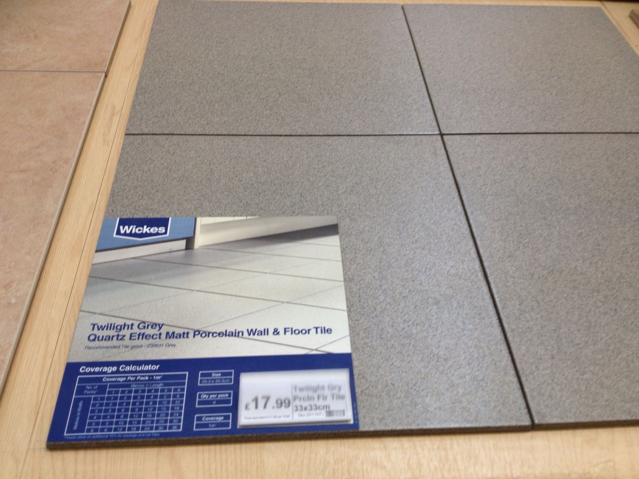 Bathroom Toilet Floor Tiles For Cg From Wickes
