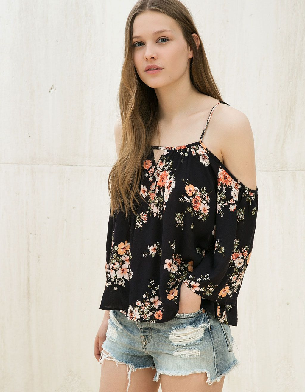 dab1c7ba3 Off shoulder 3/4 sleeve top   Wants!   Trendy outfits for teens ...