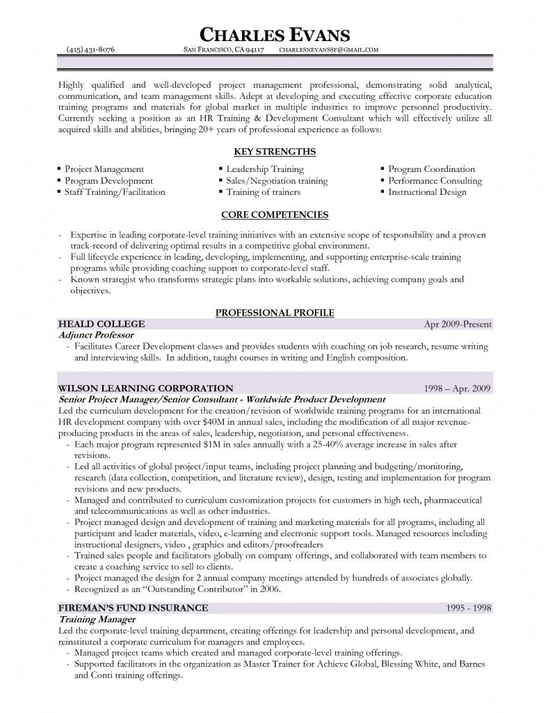 trainer sample resume cover letter top training officer