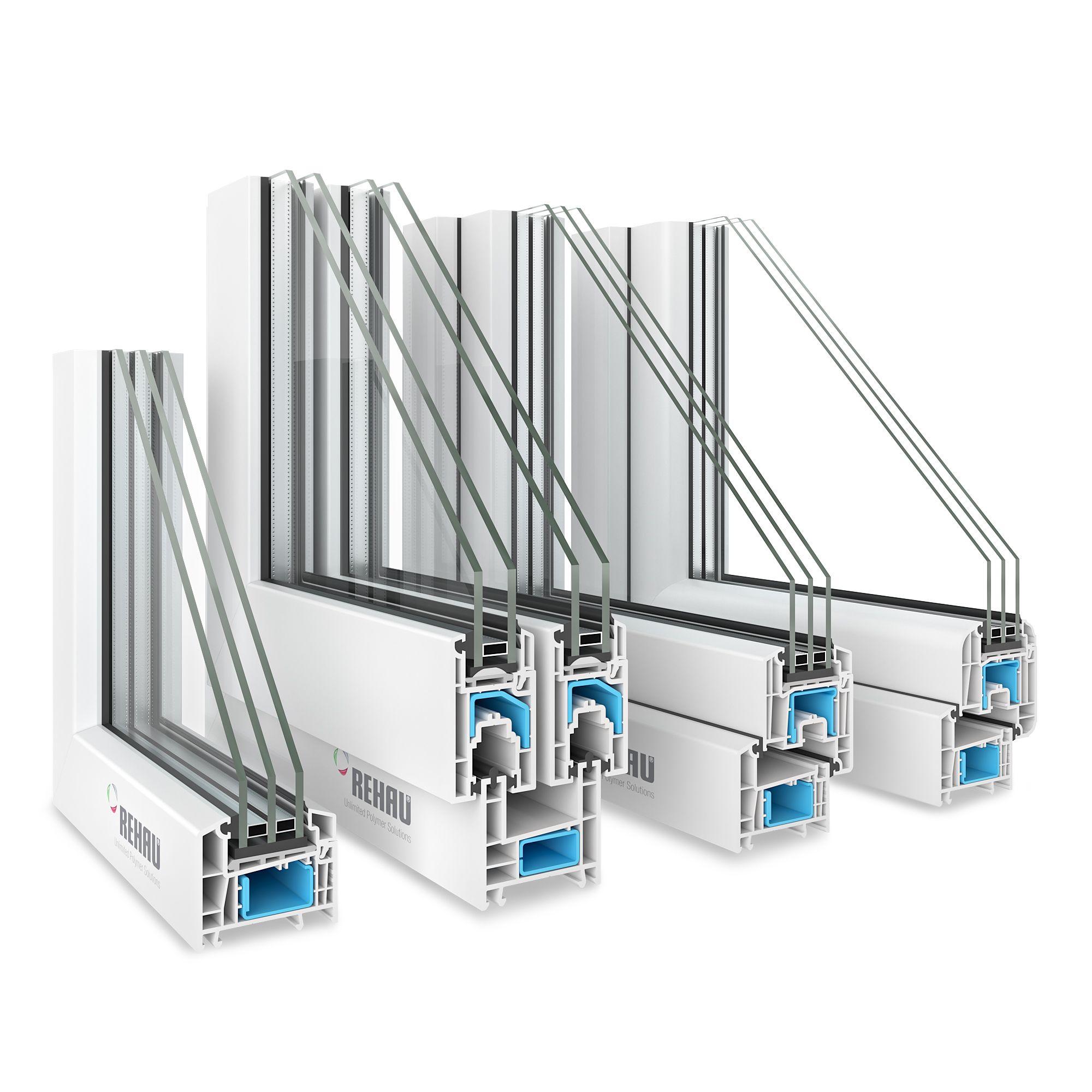 4 Rehau Window Profiles Rehau Windows House 3d Model