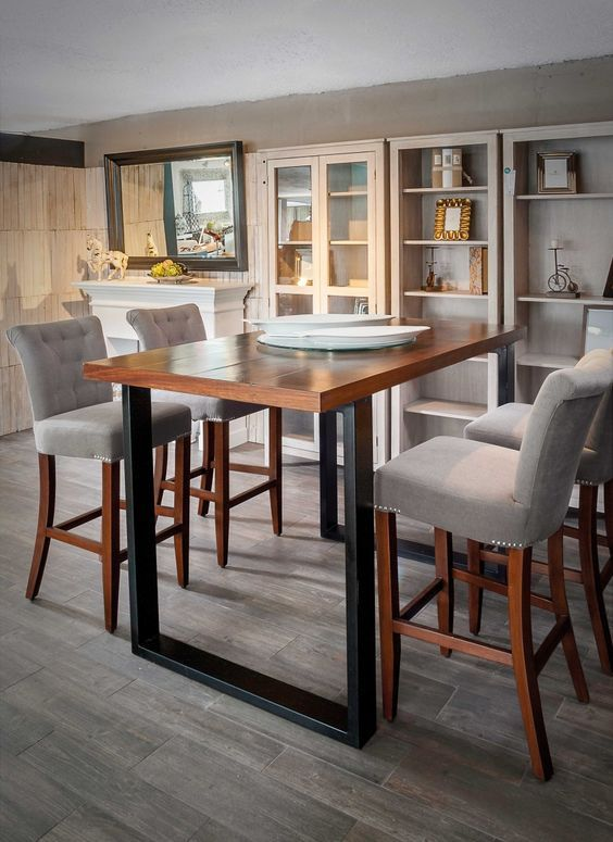 El mueble de moda mesas altas en tu hogar barra mesas for Sillas y taburetes de cocina en ikea