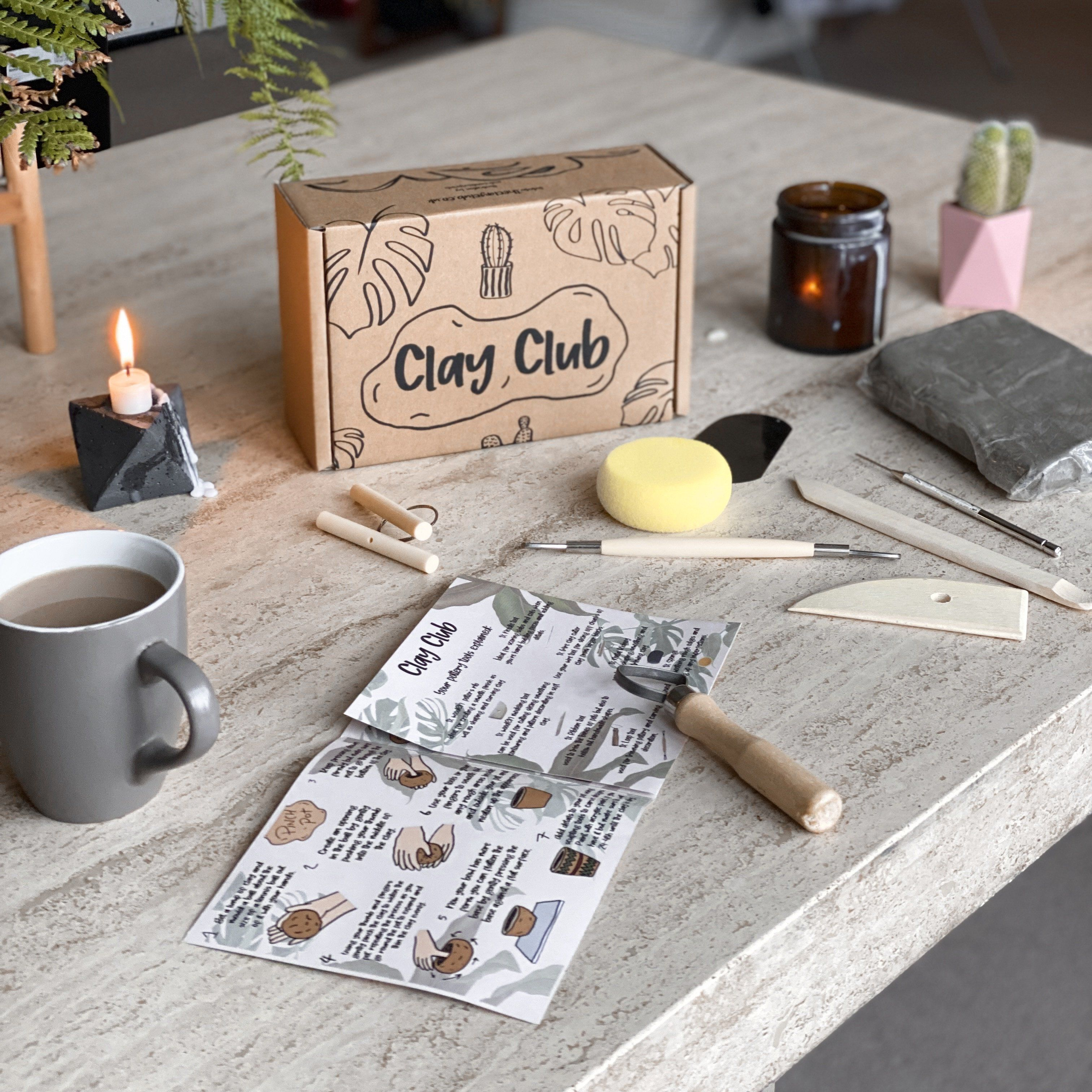 Photo of Clay Club – Home Pottery Kit For 1-2 People