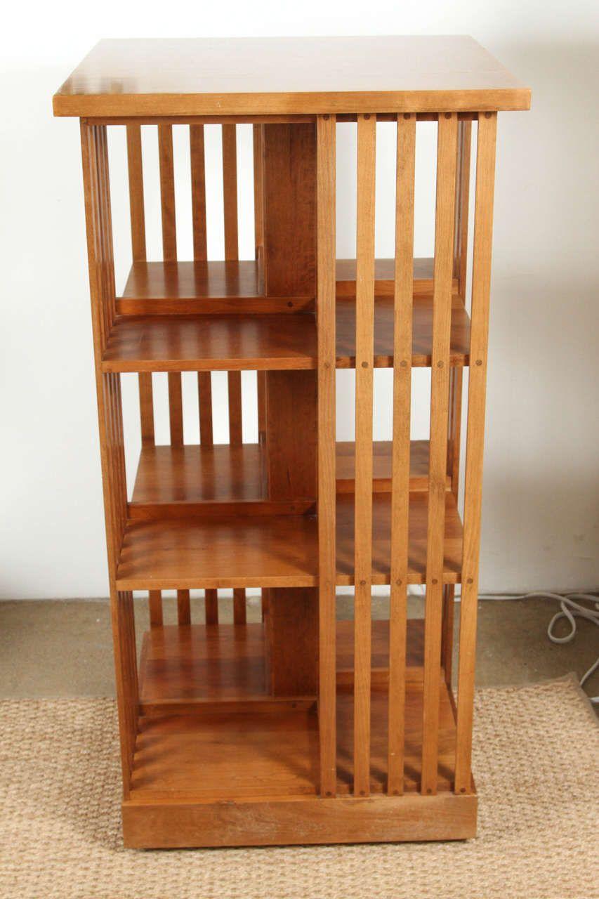 Signed Stickley Revolving Bookcase 1stdibs Com Home Decor