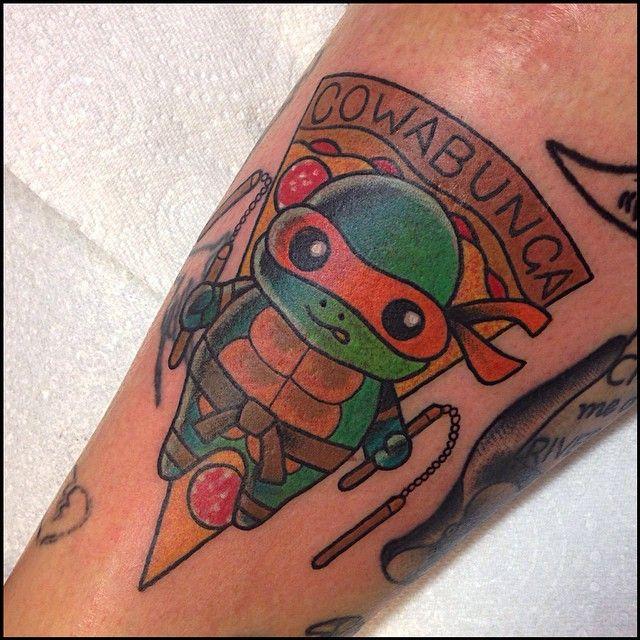 Michelangelo Teenage Mutant Ninja Turtles by tattoo artist ...