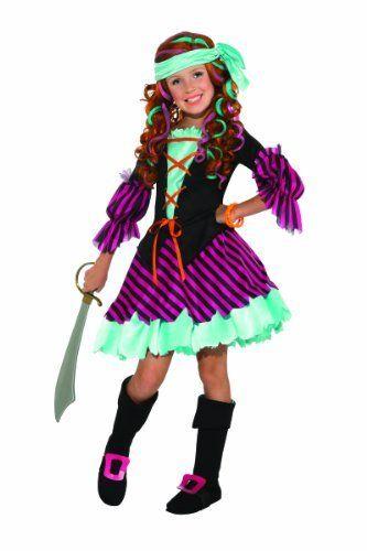 Salty Taffy Girlu0027s Pirate Costume Medium  sc 1 st  Pinterest & Salty Taffy Girlu0027s Pirate Costume Medium #Costume #Girls ...