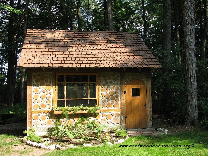 Cordwood Cottage Garden Shed (recycled) Cottage garden