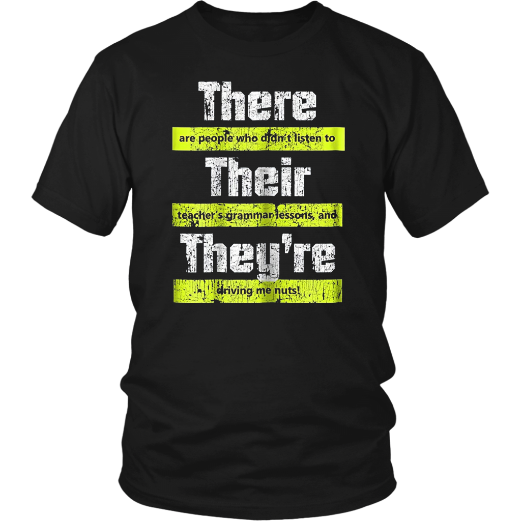 There Their And They Re Shirt