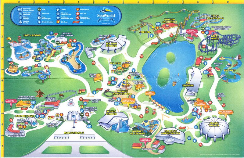 seaworld san diego map 2015 Amusement Parks Google Search Theme Park Map Sea World Theme