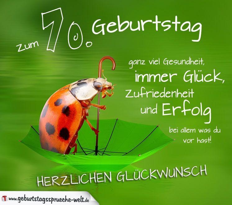 70 Geburtstag Karte Herzlichen Gluckwunsch Geburtstagsspruche