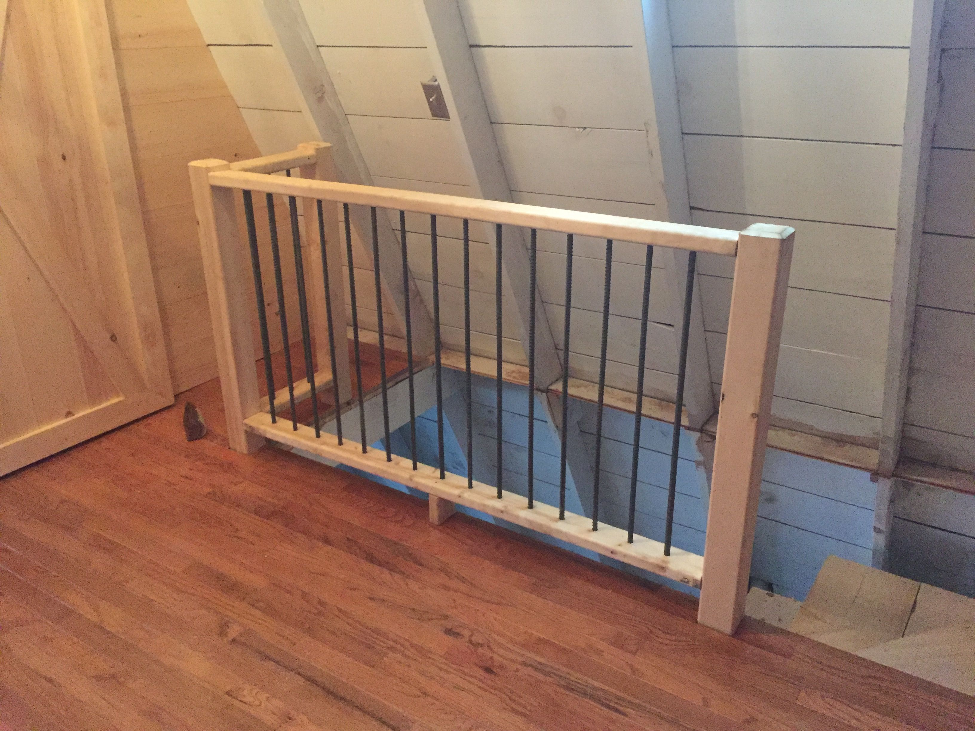 Best Pine And Rebar Stair Railing Fireplace Remodel Remodel 400 x 300