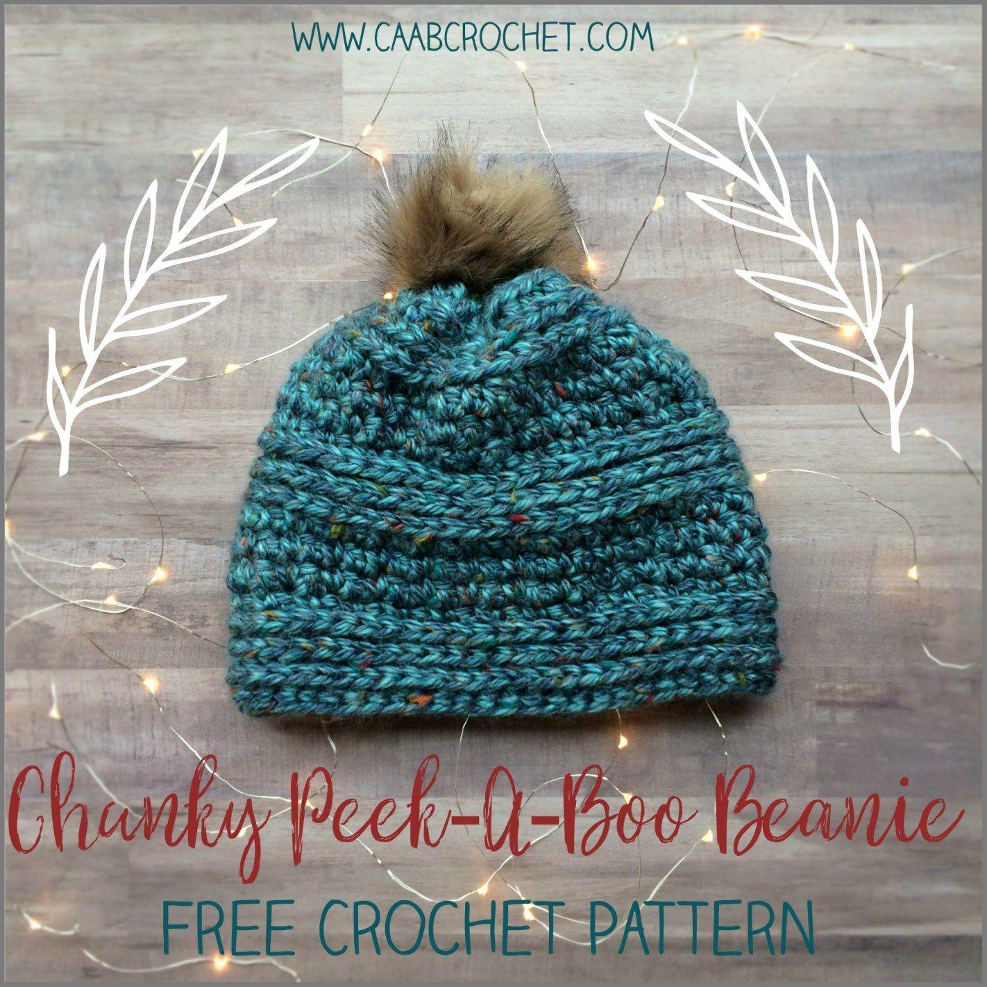 Chunky Beanie Crochet Pattern   Chunky Peek-A-Boo Beanie   free ...
