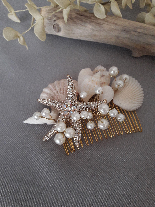 Seashell Headpiece Wedding Headpiece Starfish Bridal Hair Comb