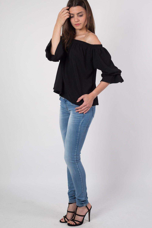 Mid Rise Sandblast Skinny Jeans in Light Denim