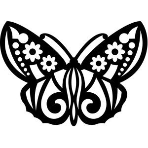 Silhouette Design Store - View Design #142475: tribal butterfly