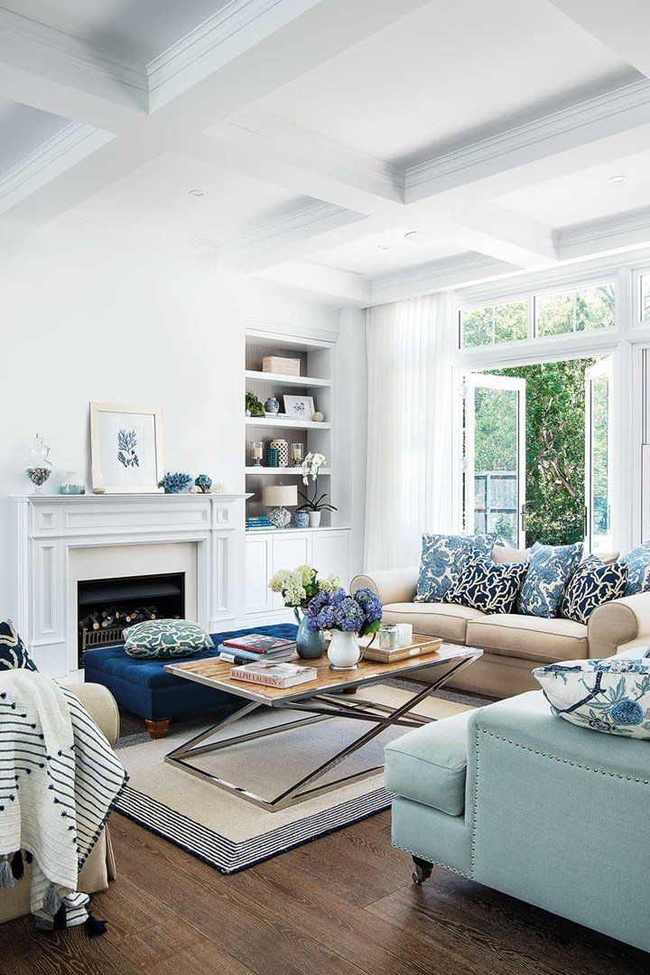 home tour that shows how to decorate in hamptons style rooms living house the also rh pinterest