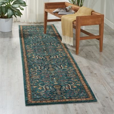 Nourison Blue Area Rug Rug Size Runner 2 3 X 11 Area Rugs Teal Area Rug Rugs