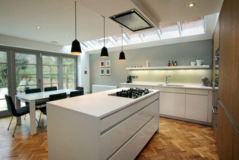 Risultati immagini per cucina su parquet in rovere | Cucina, vetrate ...