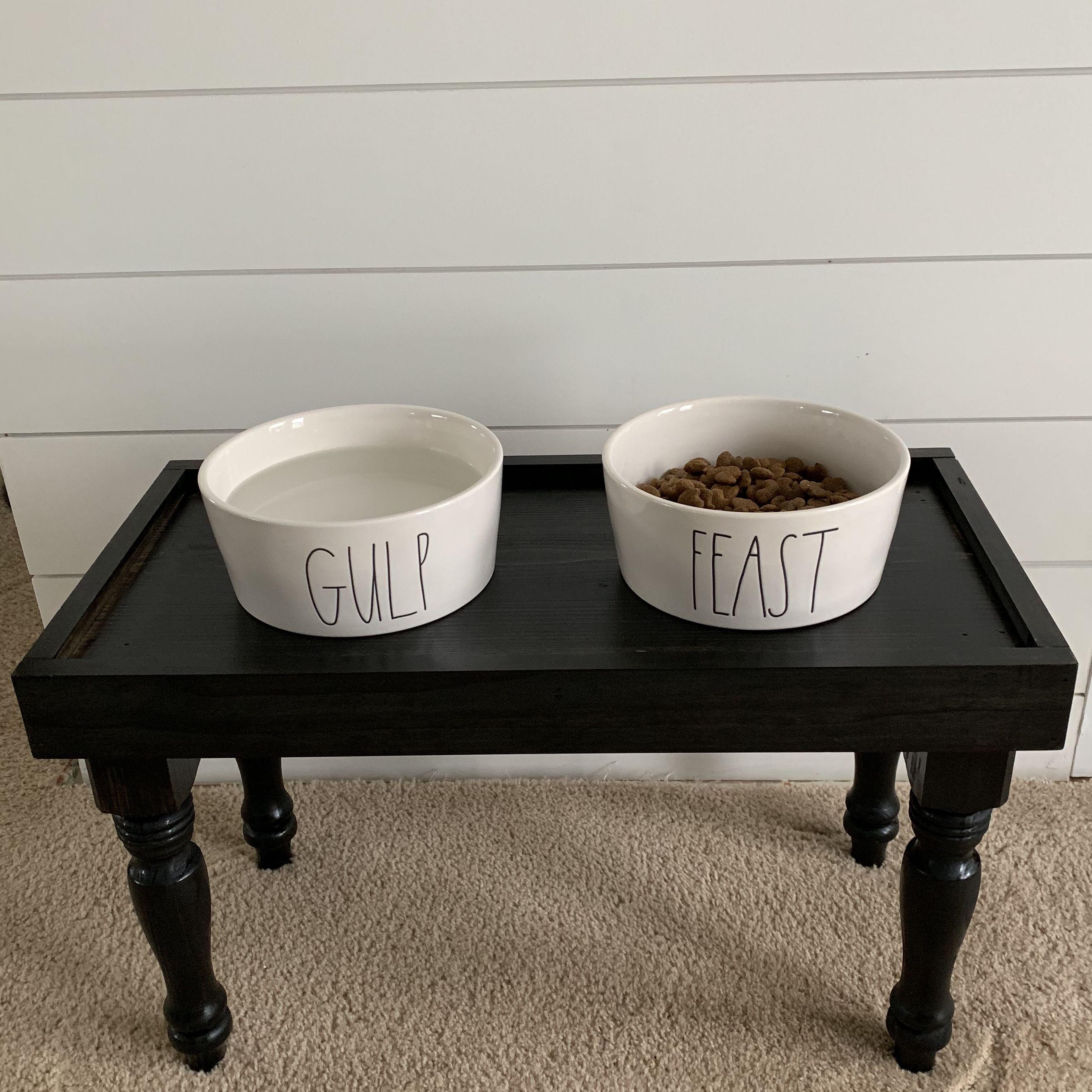Diy Rae Dunn Pet Bowl Stand Dog Bowls Dog Bowls Diy