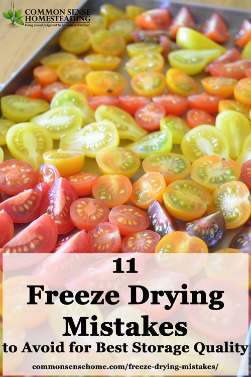11 Freeze Drying Mistakes To Avoid For Best Storage Quality Freeze Drying Freeze Drying Food Freeze Dried Food Storage