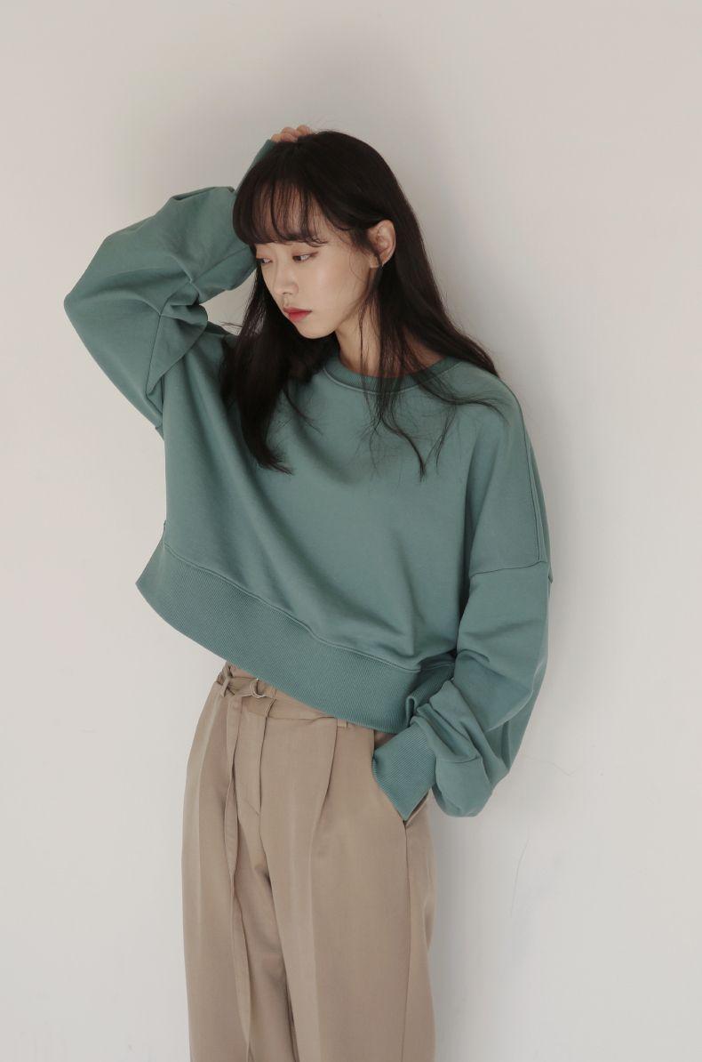 82f330d3ec korean fashion casual street sleep green jumper sweater cream brown pants
