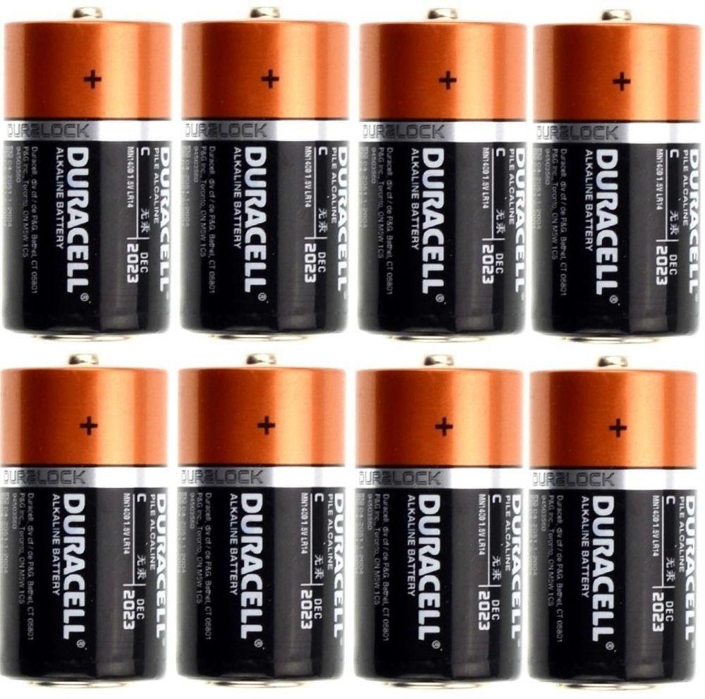Duracell C12 Battery Copertoop Duralock Alkaline Baterries 8 Pack New 2023 Duracell Battery Alkaline