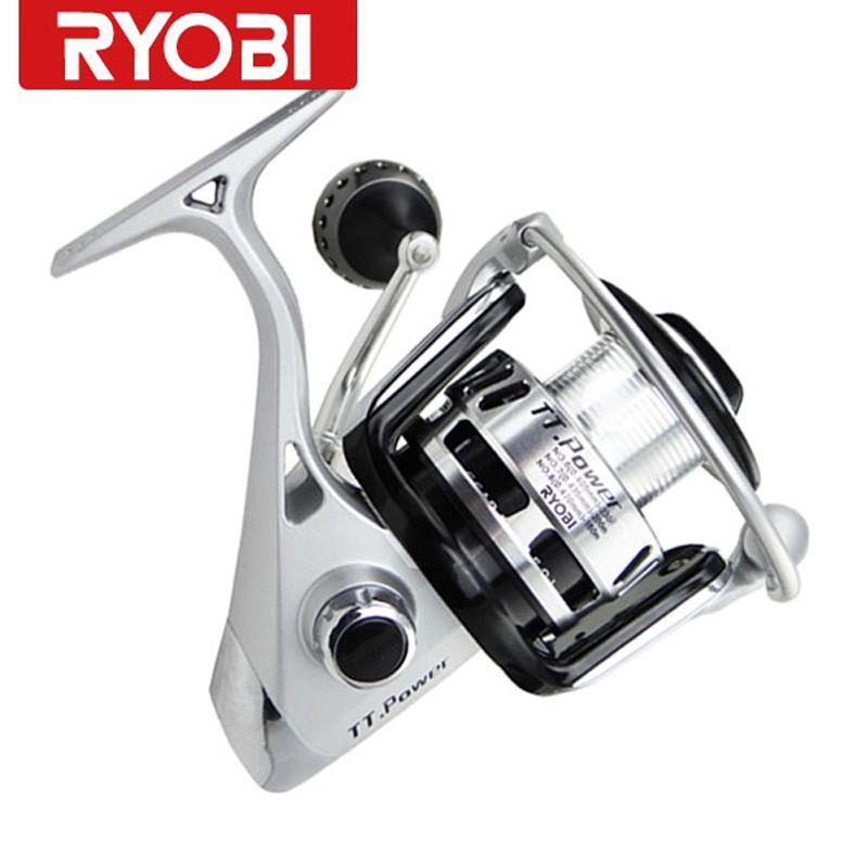Ryobi Reels TT.Power 8000 6BB 100% original spinning reel Carretilha Pesca Spinning fishing rod and magnetic double brake Pesca