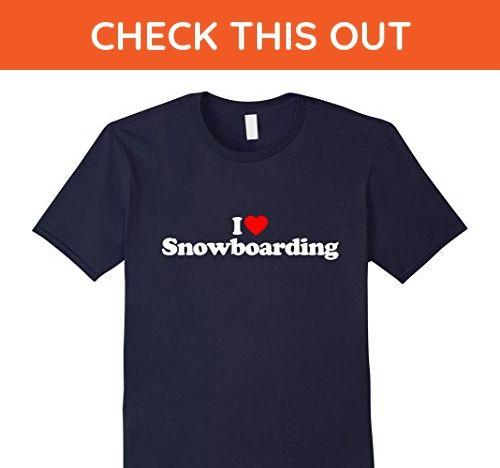 Mens I Love Heart Snowboarding Funny T-Shirt Small Navy - Sports shirts (*Amazon Partner-Link)