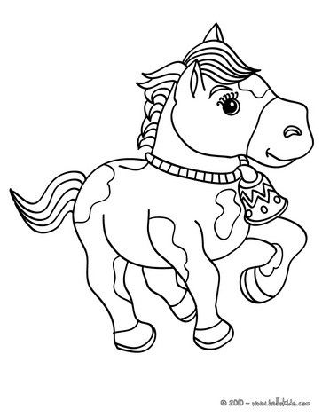 Funny Horse Coloring Page Cute And Amazing Farm Animals For Kids More