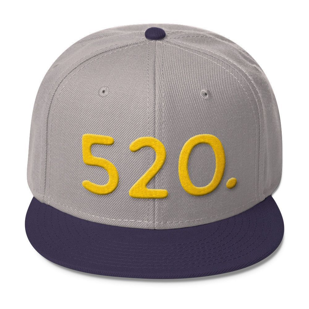 Arizona 520 Area Code - Wool Blend Snapback Hat