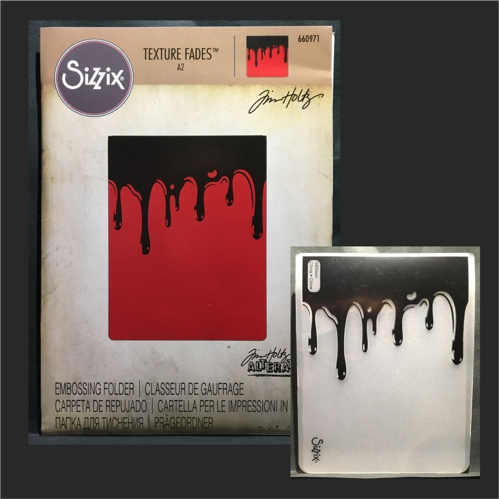 Dripping by Tim Holtz Sizzix 660971 Texture Fades Embossing Folder