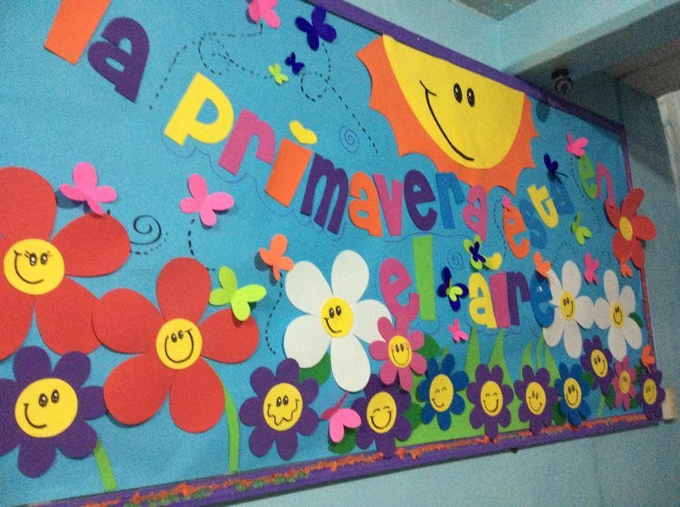 13 Periodicos Murales De Marzo Y Primavera Educacion Preescolar