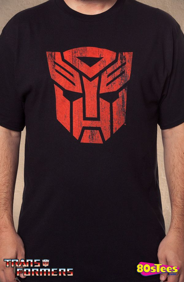 Black Autobot Logo T-Shirt  80s Cartoons Transformers Mens T-Shirt 9bba3ecc70d4