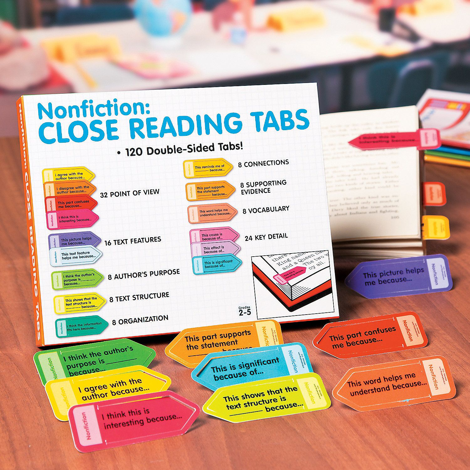 Nonfiction Close Reading Tabs Orientaltrading