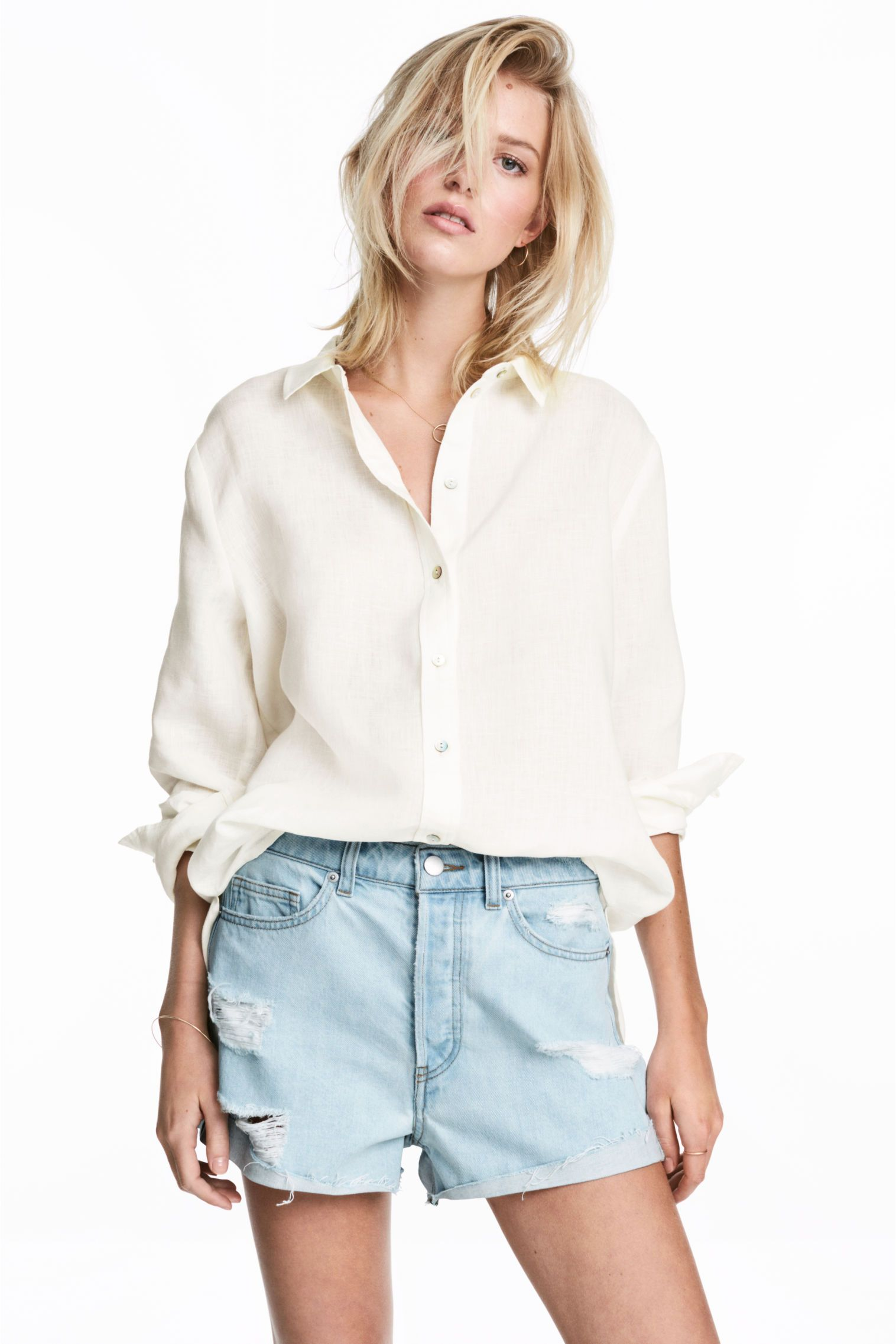 b45e9f0502a14 Ladies Linen Shirts Blouses - BCD Tofu House