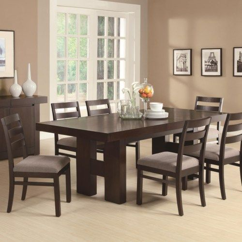 Dabny 7 Piece Rectangular Dining Table Set With Pull Out Extension New Dining Room Table With Pull Out Leaves Inspiration Design