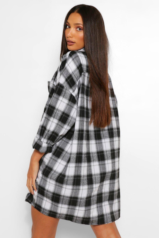 Tall Oversized Flannel Shirt Dress Boohoo In 2021 Flannel Shirt Dress Checked Shirt Dress Checked Shirt Women [ 1500 x 1000 Pixel ]