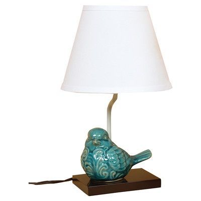 Charlton home milan crackle ceramic bird 145 h table lamp with charlton home milan crackle ceramic bird 145 h table lamp with empire shade base color mozeypictures Choice Image