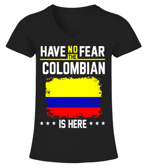 Colombia Flag T-Shirt Have No Fear Colombian Vintage Shirt V-neck T ...