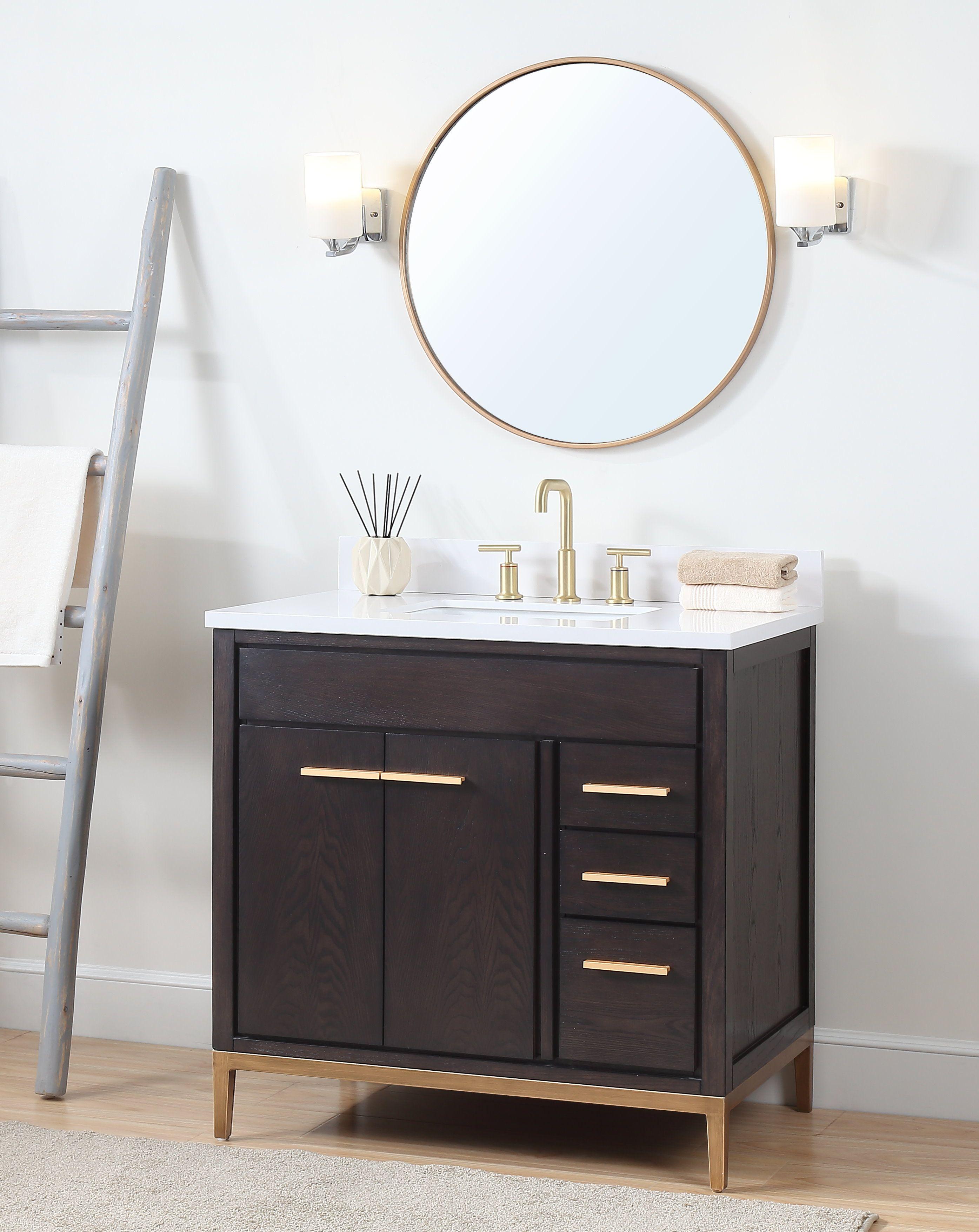 36 Tennant Brand Modern Style Beatrice Bathroom Sink Vanity Tb 9838dk V36 Wenge Finish Bathroom Vanities Without Tops Small Bathroom Makeover Bathroom Interior Design