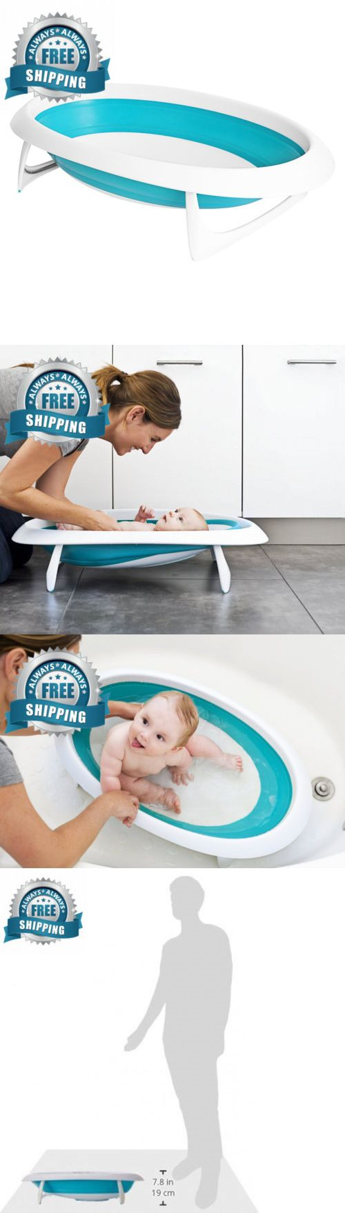 Boon Naked Collapsible Baby Bathtub Blue,Blue White | Bath Tubs ...