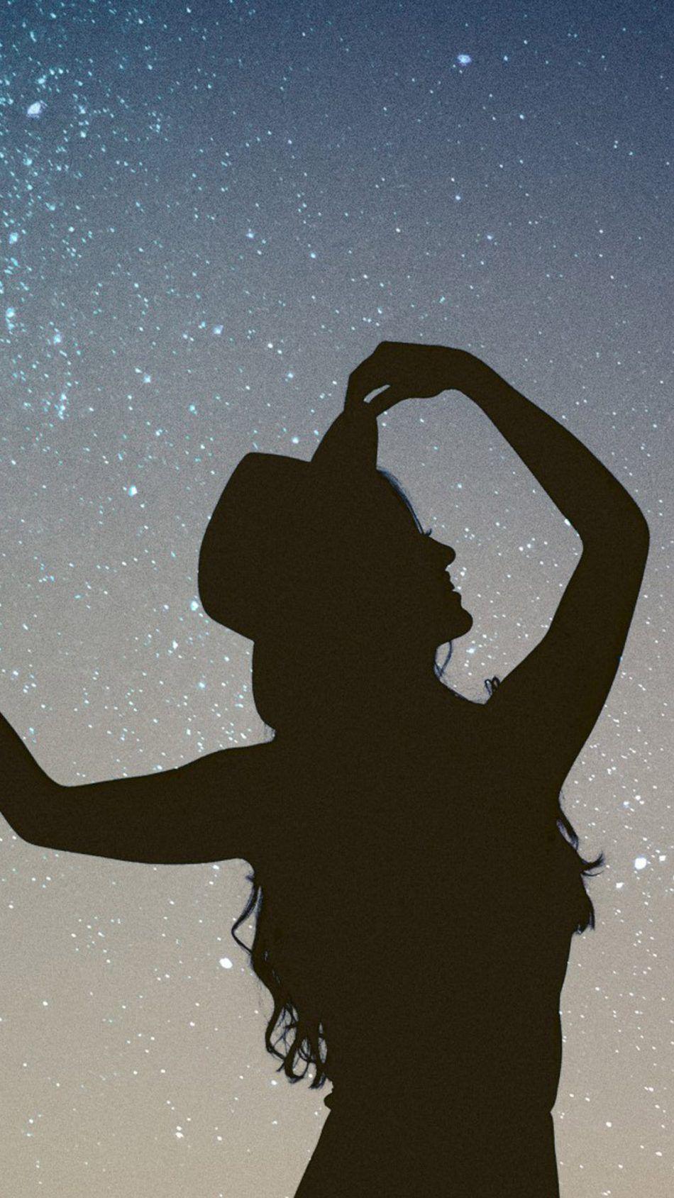 Silhouette Girl Starry Sky 4k Ultra Hd Mobile Wallpaper Girl Silhouette Silhouette Starry Sky