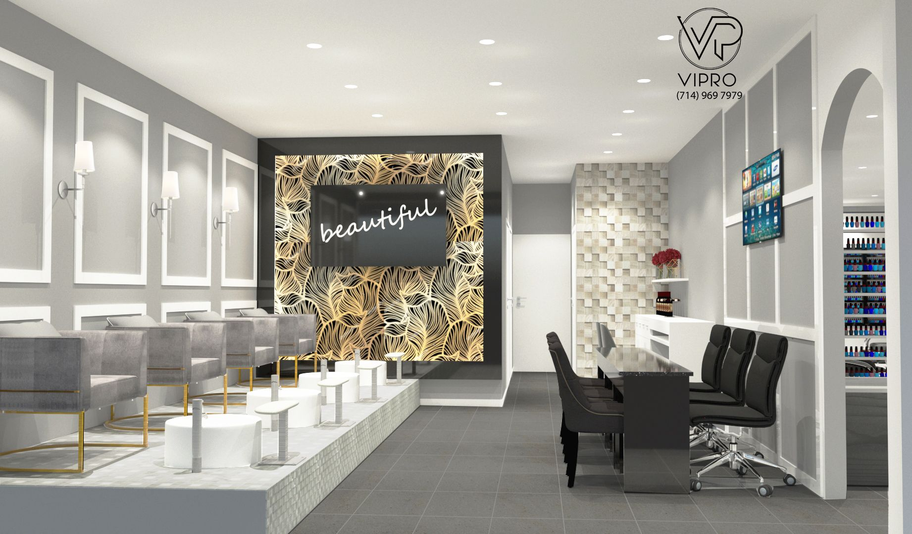 Come to VIPRO and upgrade your salon Contact: (19)-19-19
