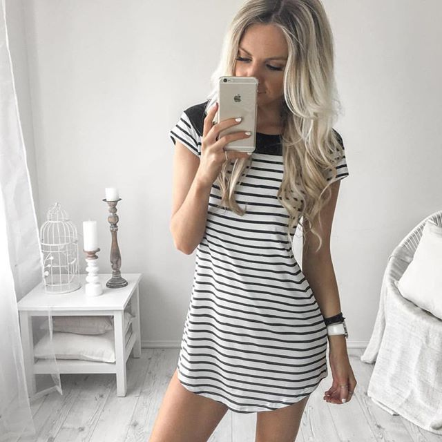Walk the line dress | $38 #xeniaboutique #xeniawestend  Obsessing with this stripe dress.  Shop now  WWW.XENIABOUTIQUE.COM.AU  We ship worldwide!