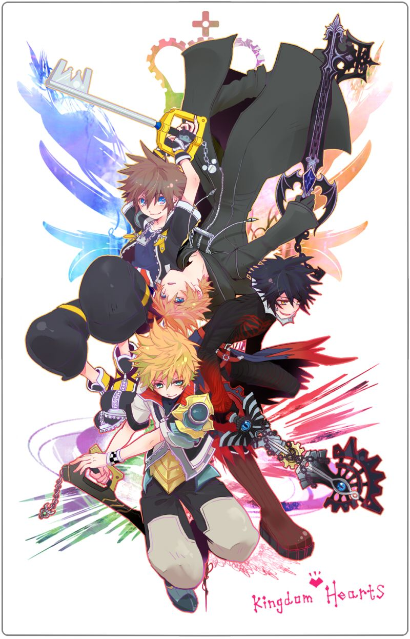 Kingdom Hearts ~ Sora, Roxas, Ventus, Vanitas | Kingdom hearts ...